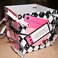 Coaster Box - Pink and Black 3