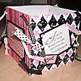 Coaster Box - Pink and Black 1