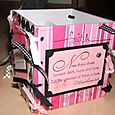 Coaster Box - Pink and Black 2