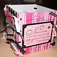 Coaster Box - Pink and Black 2