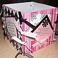 Coaster Box - Pink and Black 4