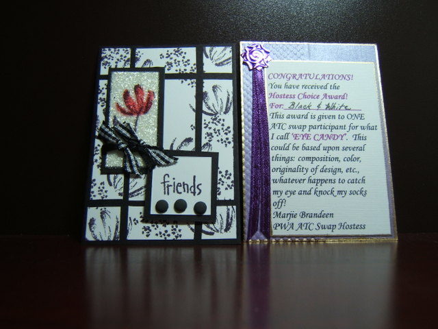 Black and White ATC - Award!