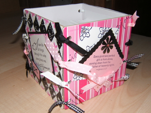 Coaster Box - Pink and Black 4