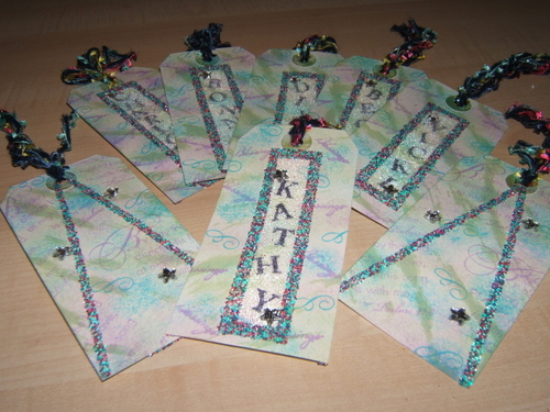 Bottled Water Name Tags
